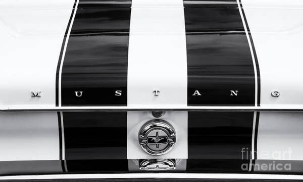 Ford Motor Company Photograph - Monochrome Mustang  by Tim Gainey