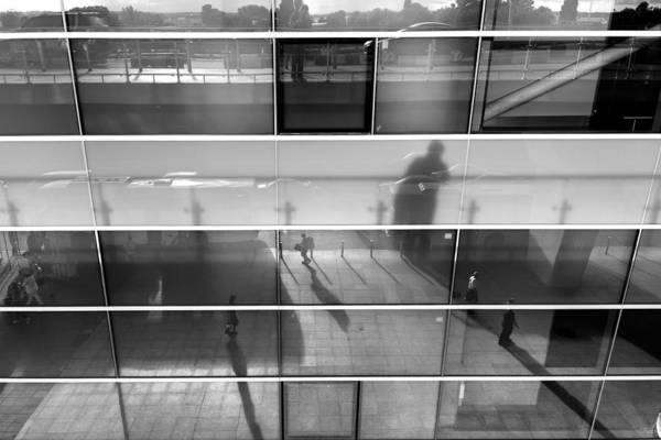 Businessman Photograph - Monochrome Reflection by Stelios Kleanthous