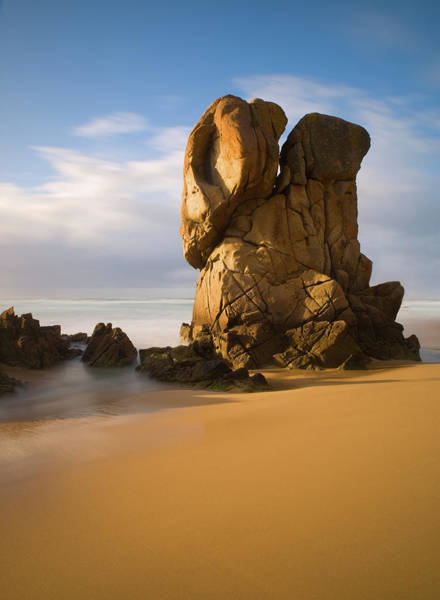 Galicia Photograph - Monolithic Rock On The Beach by Ramón Espelt Photography