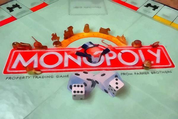 Wall Art - Mixed Media - Monopoly Board Game by Dan Sproul