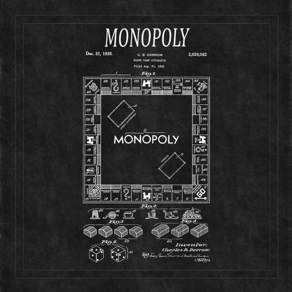 Monopoly Photograph - Monopoly Patent 2 by Andrew Fare
