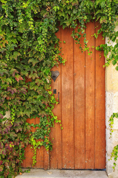 End Of Summer Photograph - Monpazier Door by Georgia Fowler