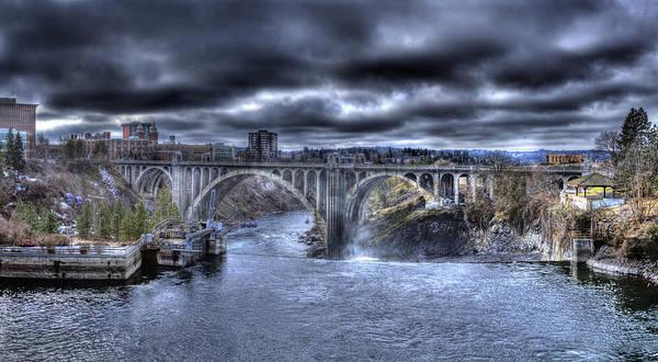 Photograph - Monroe Street Bridge Looking West by Lee Santa