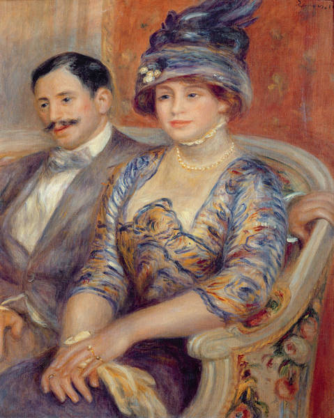 Impressionist Photograph - Monsieur Et Madame Bernheim De Villers, 1910 Oil On Canvas by Pierre Auguste Renoir