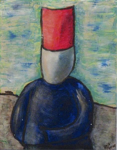 Painting - Monsieur by Mario MJ Perron
