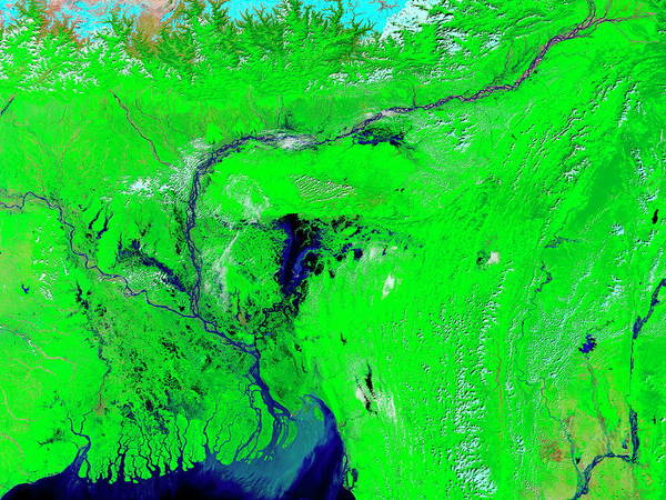 Ganges River Photograph - Monsoon Floods by Nasa/science Photo Library