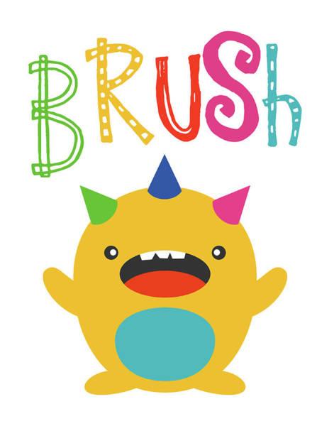 Bath Room Wall Art - Painting - Monster Brush by Tamara Robinson