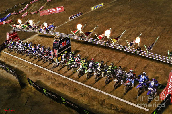 Monster Energy Ama Supercross  450sx Main Art Print