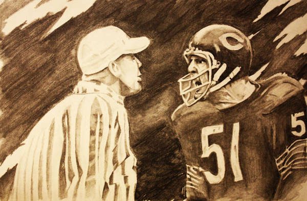 Soldier Field Drawing - Monster Of The Midway by Nick Vogt