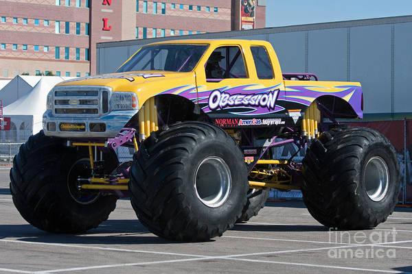Photograph - Monster Truck Obsession by Gunter Nezhoda