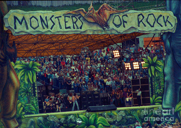 Ac Dc Wall Art - Photograph - Monsters Of Rock Stage While A C D C Started Their Set - July 1979 by Daniel Larsen