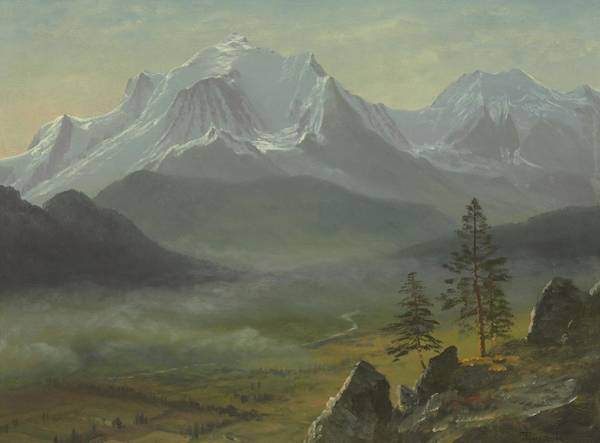 Atmospheric Painting - Mont Blanc by Albert Bierstadt