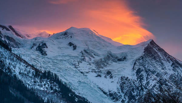 Photograph - Mont Blanc Chamonix France At Sunset by Pierre Leclerc Photography