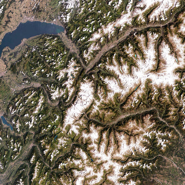 Rhone River Photograph - Mont Blanc by Nasa/science Photo Library