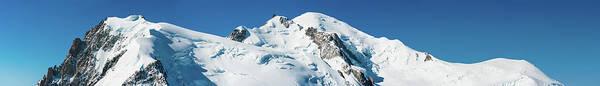 Chamonix Wall Art - Photograph - Mont Blanc Summit Super Panorama Alps by Fotovoyager