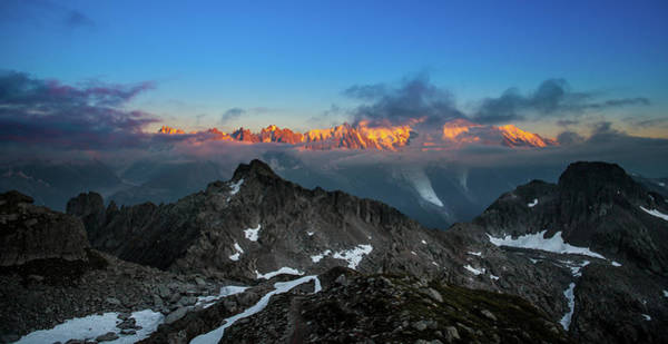 Chamonix Wall Art - Photograph - Mont-blanc Sunset by Swadric A