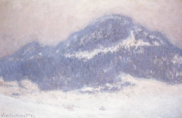 Terrain Painting - Mont Kolsaas by Claude Monet