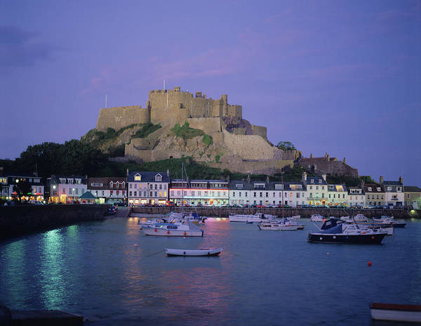Harbor Photograph - Mont Orgueil Castle In Jersey, Uk by Adina Tovy
