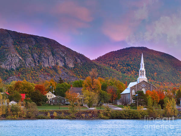 Old Church Photograph - Mont-saint-hilaire Quebec On An Autumn Day by Laurent Lucuix