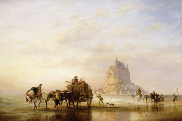 Approach Wall Art - Painting - Mont St Michel by Edward William Cooke