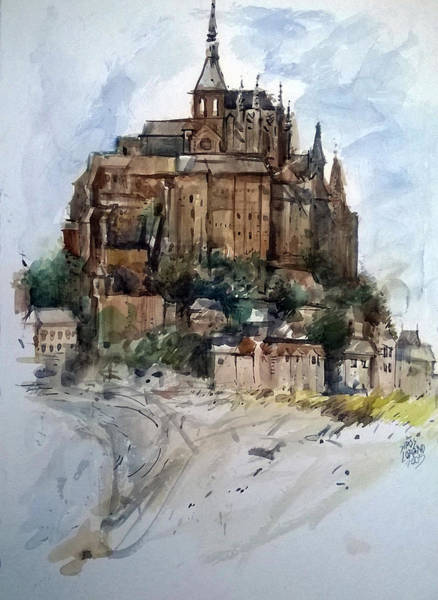 Painting - Mont St Michel by Lorand Sipos
