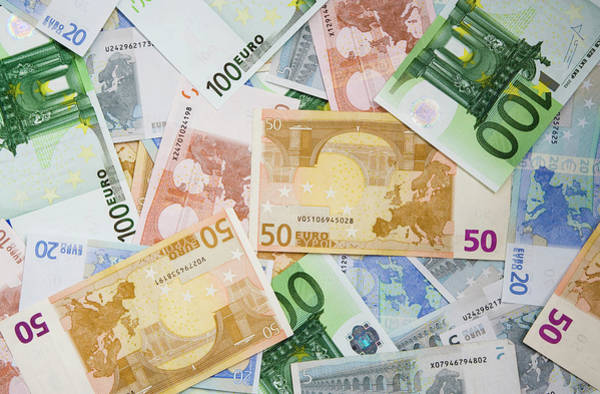 Commerce Photograph - Montage Of Miscellaneous Euro Currency by Jaynes Gallery