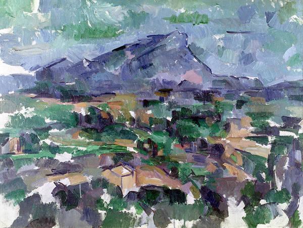 Provence Landscape Wall Art - Painting - Montagne Sainte-victoire by Paul Cezanne
