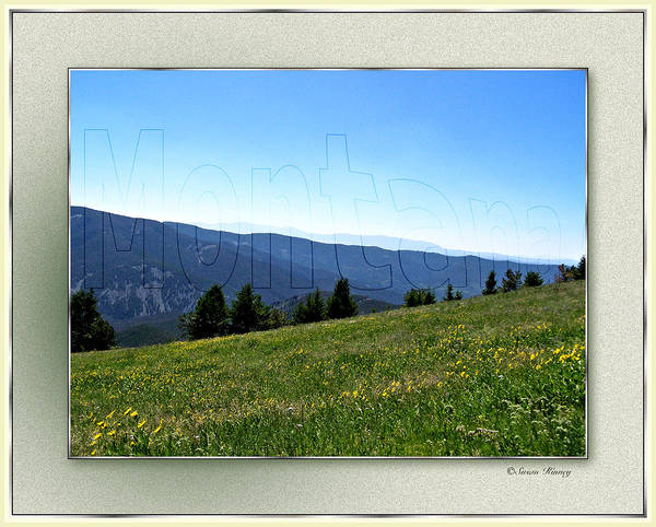 Digital Art - Montana Frame by Susan Kinney