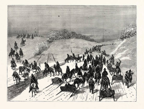 Montana Drawing - Montana Hostile Indians Under Chief Gall by American School