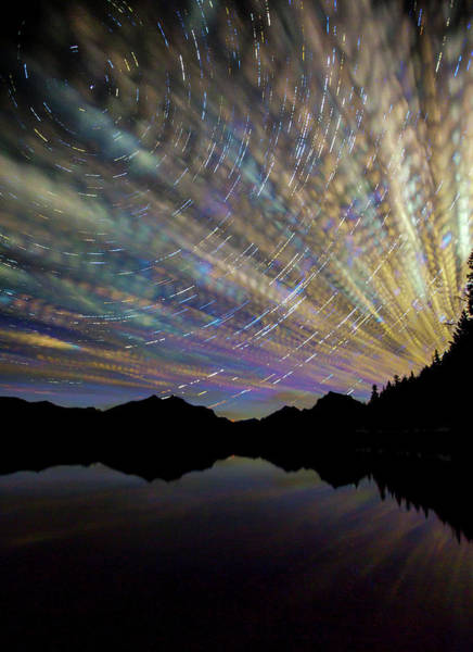Star Trails Photograph - Montana Skies by Aaron Aldrich Fine Art
