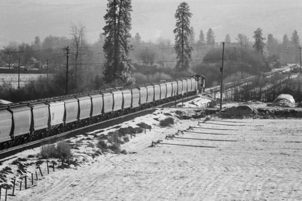 Cours Photograph - Montana Train by Paul Bartoszek