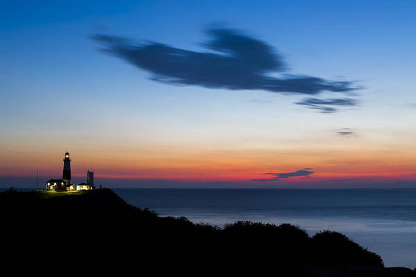 Red Bluff Photograph - Montauk Lighthouse Sunrise by Ryan Moore