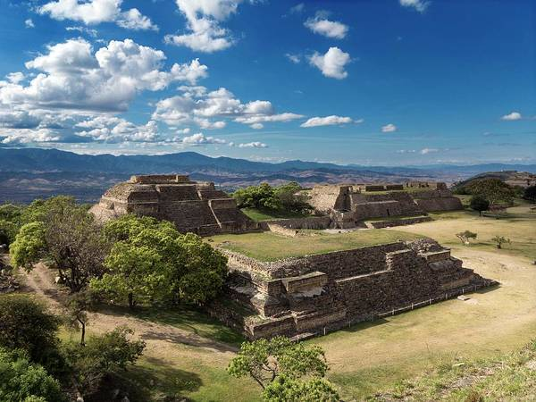 Mesoamerican Photograph - Monte Alban Buildings by Daniel Sambraus