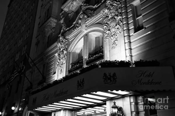 Photograph - Monteleone Night Lights Mono by John Rizzuto