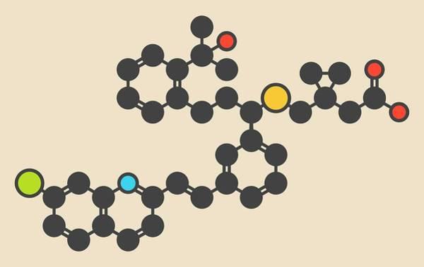 Chronic Wall Art - Photograph - Montelukast Drug Molecule by Molekuul