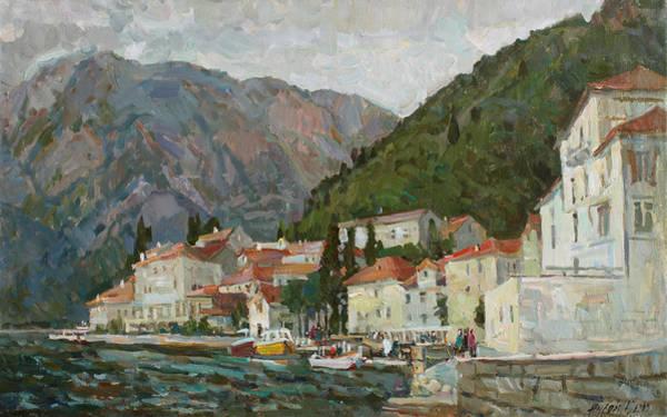 Wall Art - Painting - Montenegrin Venice by Juliya Zhukova