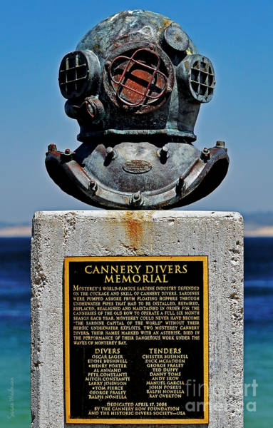 Photograph - Monterey Cannery Divers Memorial by Susan Wiedmann
