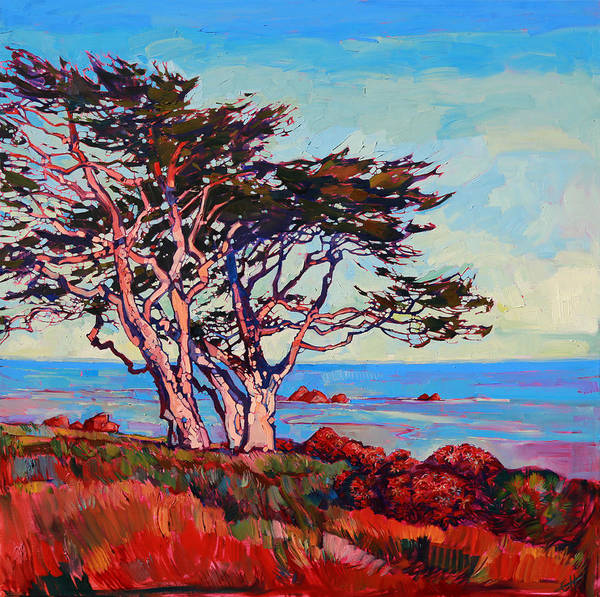 Monterey Wall Art - Painting - Monterey Diptych Right Panel by Erin Hanson