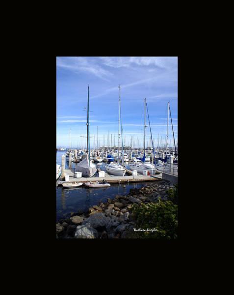Painting - Monterey Harbor California Duvet by Barbara Snyder