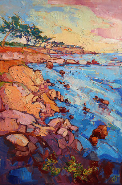 Wall Art - Painting - Monterey Rock by Erin Hanson