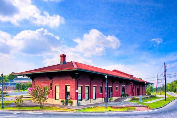 Photograph - Montezuma Central Of Georgia Depot - Vintage Railroad by Mark Tisdale