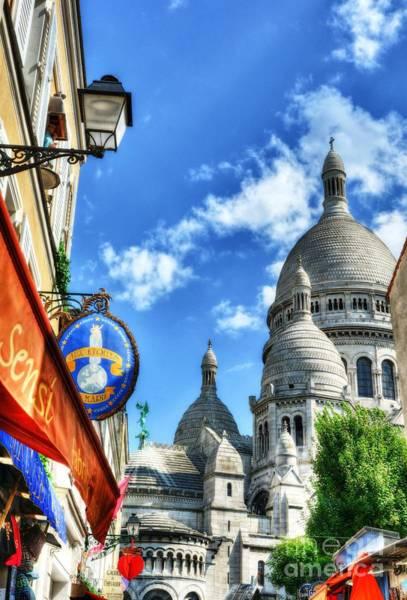 Sacred Heart Photograph - Montmartre In Paris 3 by Mel Steinhauer