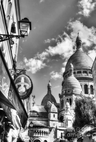 Sacred Heart Photograph - Montmartre In Paris 4 Bw by Mel Steinhauer