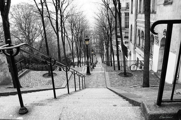 Photograph - Montmartre Stairs by Diana Haronis