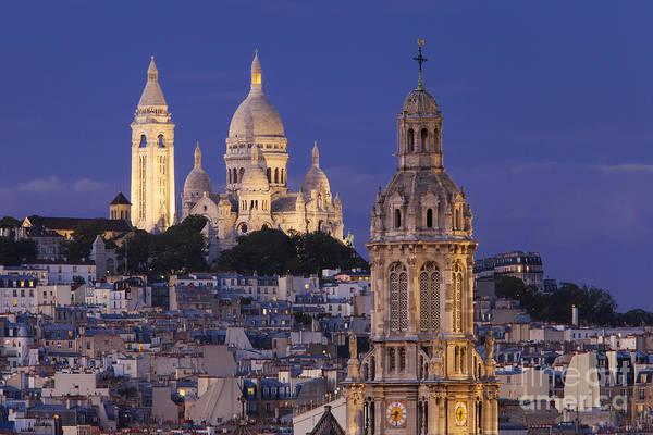 Sacred Heart Photograph - Montmartre Twilight by Brian Jannsen