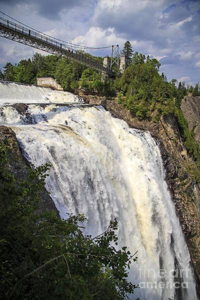 Quebec City Photograph - Montmorency Falls Park Quebec City Canada by Edward Fielding