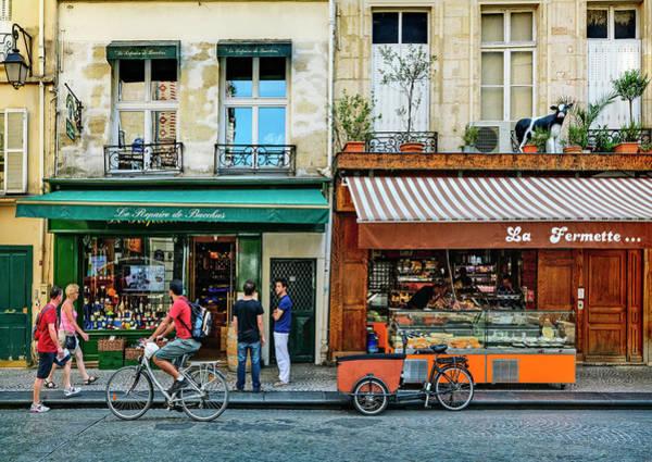 Delicatessen Photograph - Montorgueil District In Paris, France by Bruno De Hogues