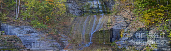 Photograph - Montour Falls Fall Panorama by William Norton