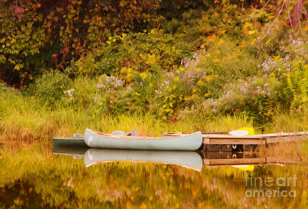Photograph - Montpelier Canoe by Deborah Benoit