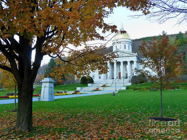 Photograph - Montpelier Vermont Capitol by Deborah Benoit